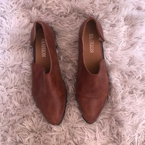 Shoes - Cognac Colored Flats inspired by Free People